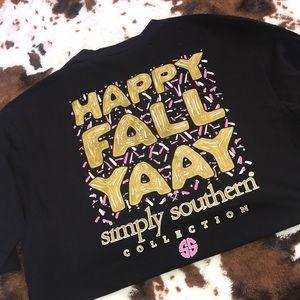 Simply southern fall shirt   size XL 💕